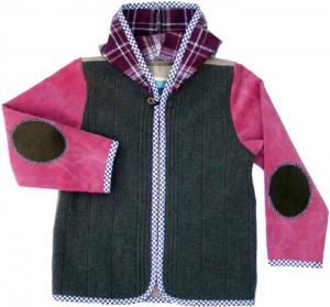 superleuk jasje van een hergebruikte trui en andere materialen