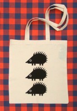 organic cotton bag hedgehog