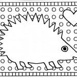 kleurplaat egel